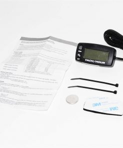 Go Kart Digital Tach Hour Meter w Max RPM Recall 2/4 Stroke Waterproof  hourmeter